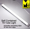 "T8-STANDALONE-CW Cool White Self Contained 18"" T8 LED Tube Light 12v 6000k"
