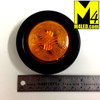"""30% Off - 2.0"""" Amber LED Round Clearance Lamp with seal and harness"""