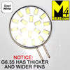 G6.35-18-5630-SIDE-CW Cool White Elite Series WIDE THICK PIN G6.35