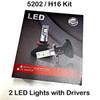 HEADLIGHTS-5202-V6s Headlight Kit with 5202 Bases (H16)