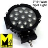 "SAN6511-BLACK 51 Watt 7"" Spot Light with Black Trim"