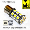 1156-24-5050-WW (1141) Warm White 5050 SMD LED Light Bulb Round Base
