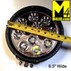 """UT-D1201 Large 8.5"""" Round 120w Spot Light with Clear Cover"""