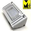 "Angled Aluminum Body Surface Mount Flood Light 5"" White"