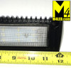 "Angled Aluminum Body Flush Mount Flood Light 13"" Black"