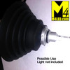 Optional Universal Rubber Headlight Boots x2