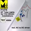 """30% Off - T5-22TUBE-NW Natural White 110VAC 22"""" T-5 LED Tube Light 4500k F14T53"""