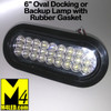 "6"" Clear LED Oval Docking or Backup Lamp with Rubber Seal"