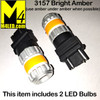 3157-G12-AMBER PAIR 3157 Amber Tail Light Replacement, Running, Turn (Hi/Low)