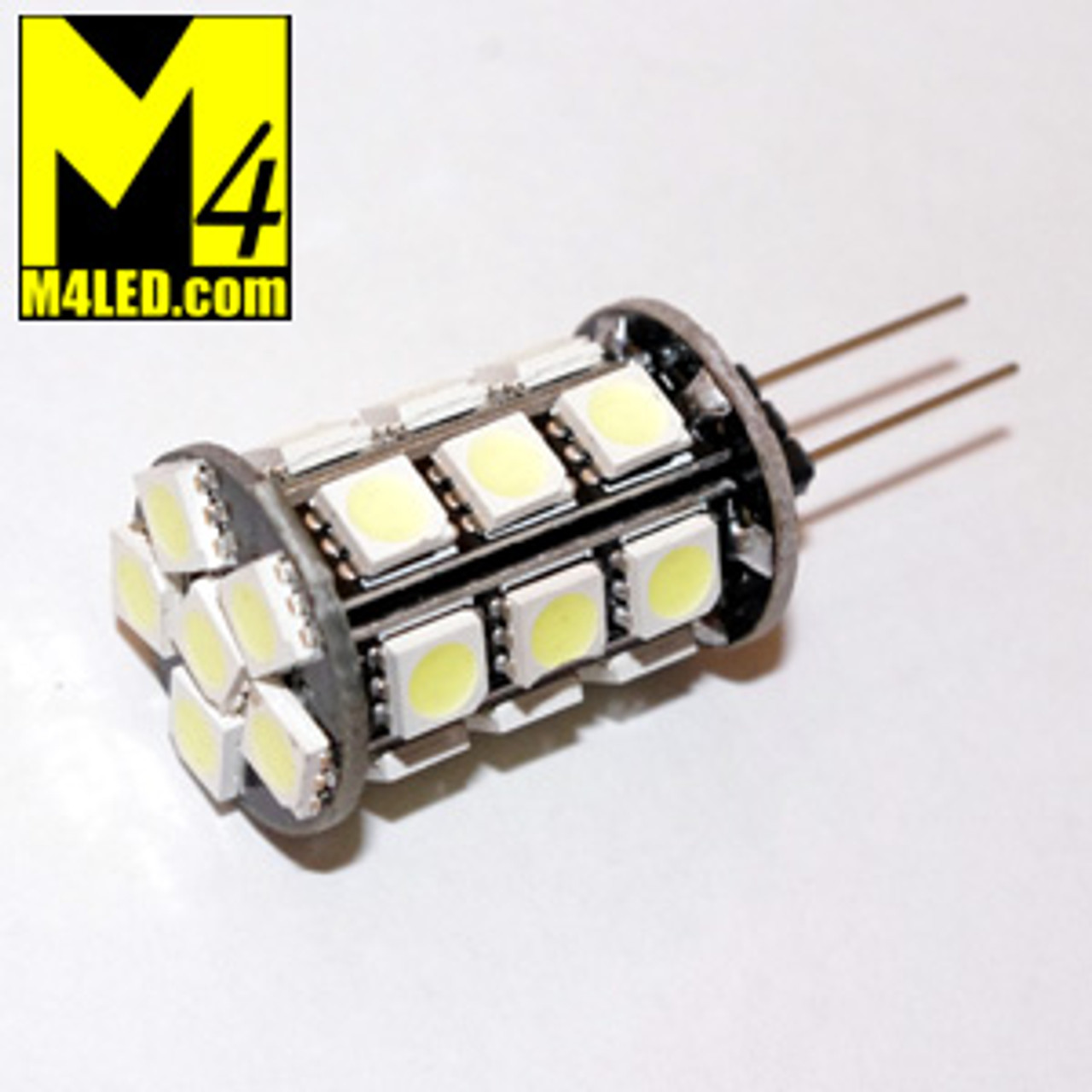 G4-24-5050-WW Warm White Thin Pin 5050 LED Light Bulb with G4 / T3 Pin Base