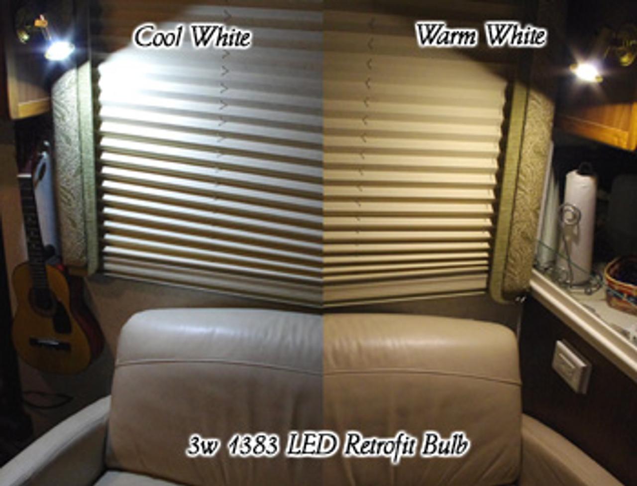 1383-3W-WW Warm White 1383 Retrofit Bulb 3 Watts Aluminum Finned Housing