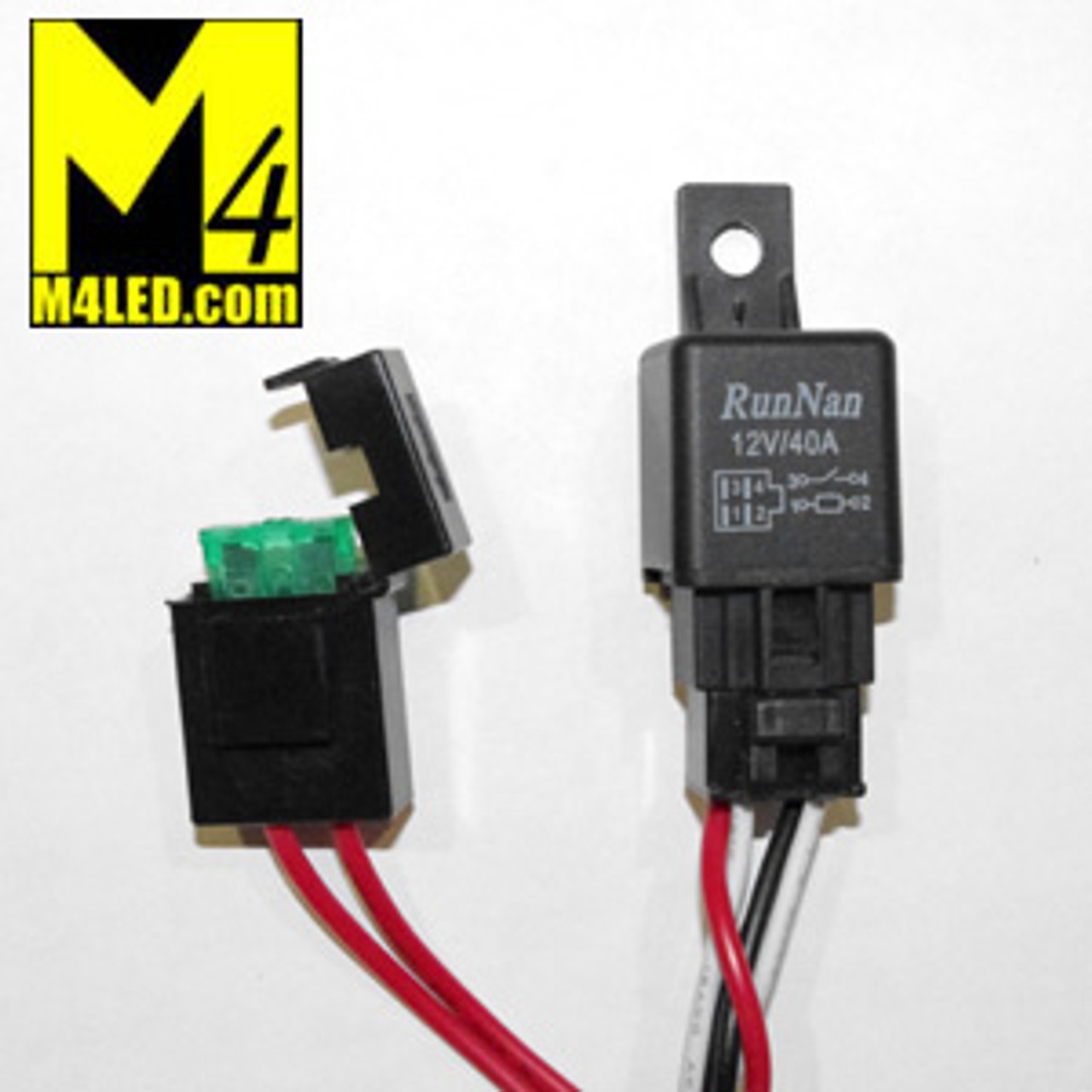 Harness-2x1 Wire Harness with Relay and Switch for Two Lights