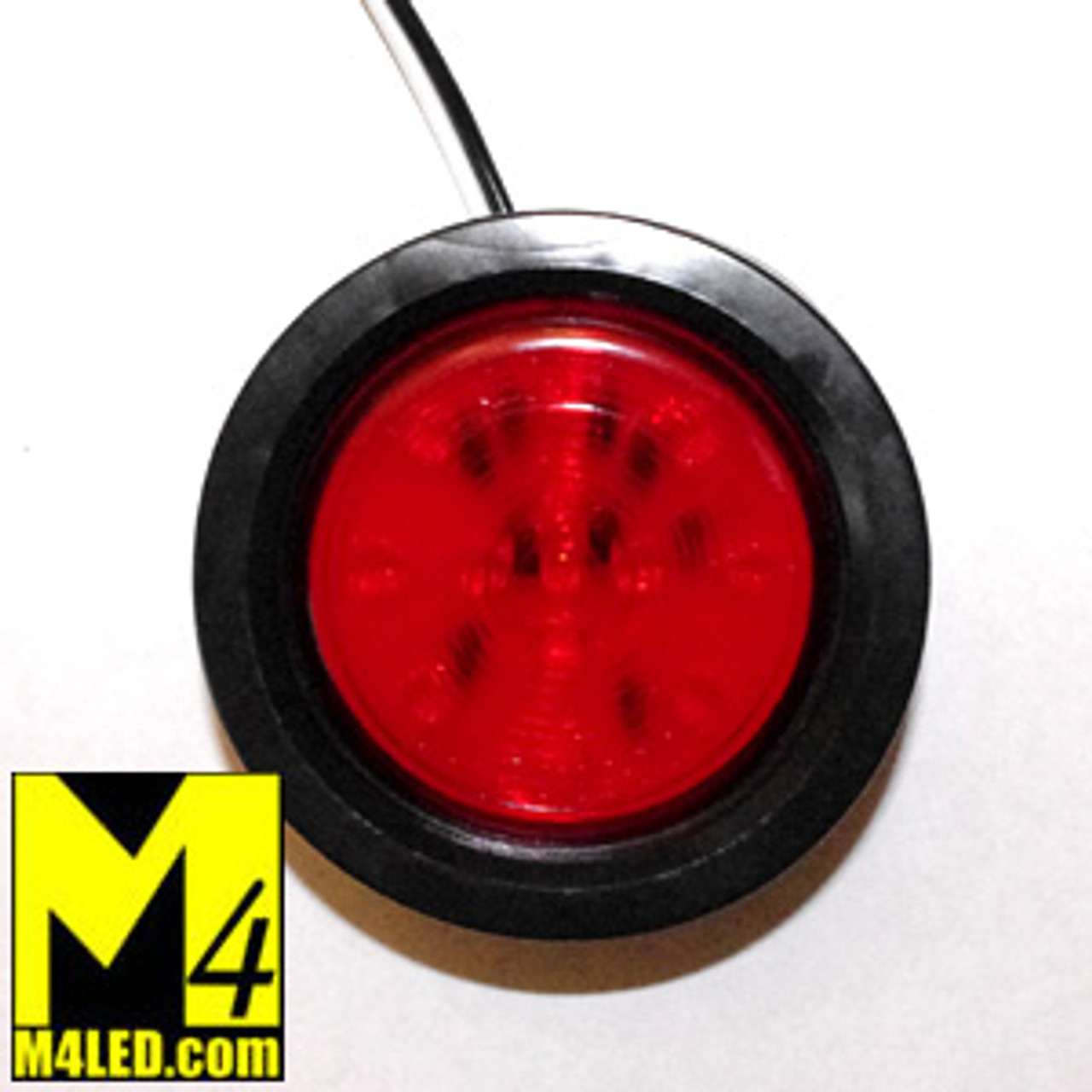 """30% Off - 2.5"""" Red LED Round Clearance Lamp with seal and harness"""