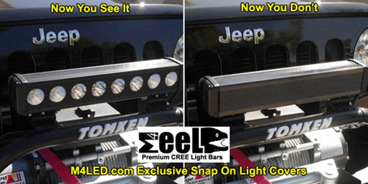 """Black ABS Light Cover for M4 eeL20 Light Bars 3.125"""""""