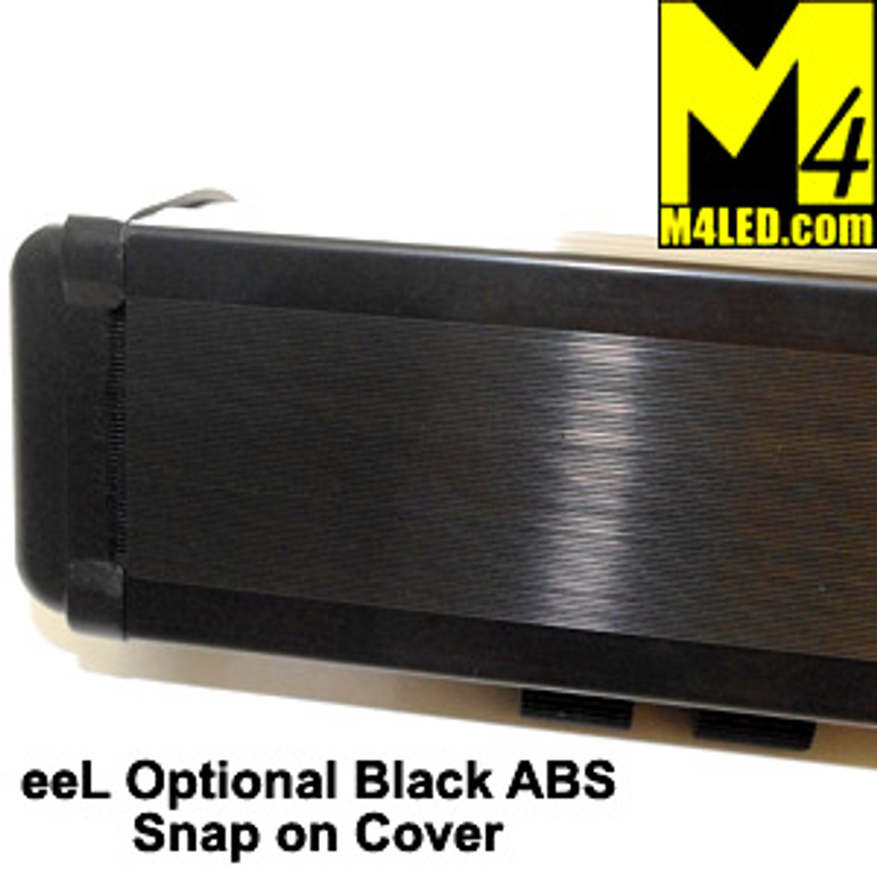 Black ABS Light Cover for M4 eeL120 Light Bars 20.875""