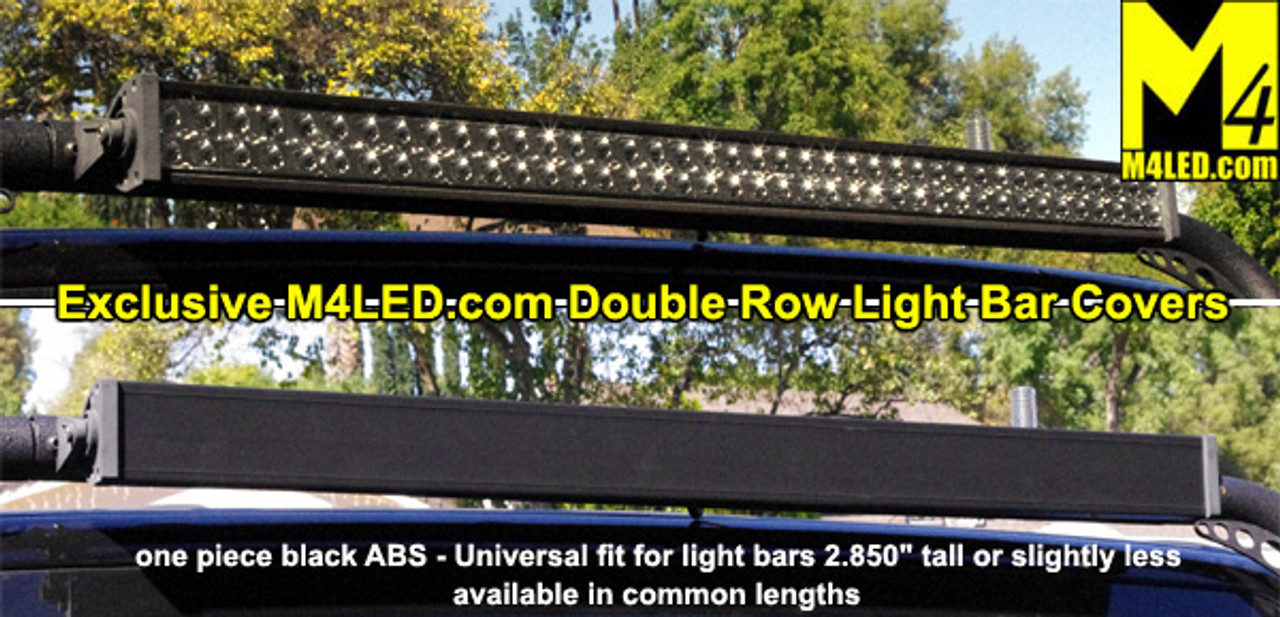 "Double Row Light Bar Cover Black ABS 20.875""  fits 22"" Lights 2.85"" tall or less"