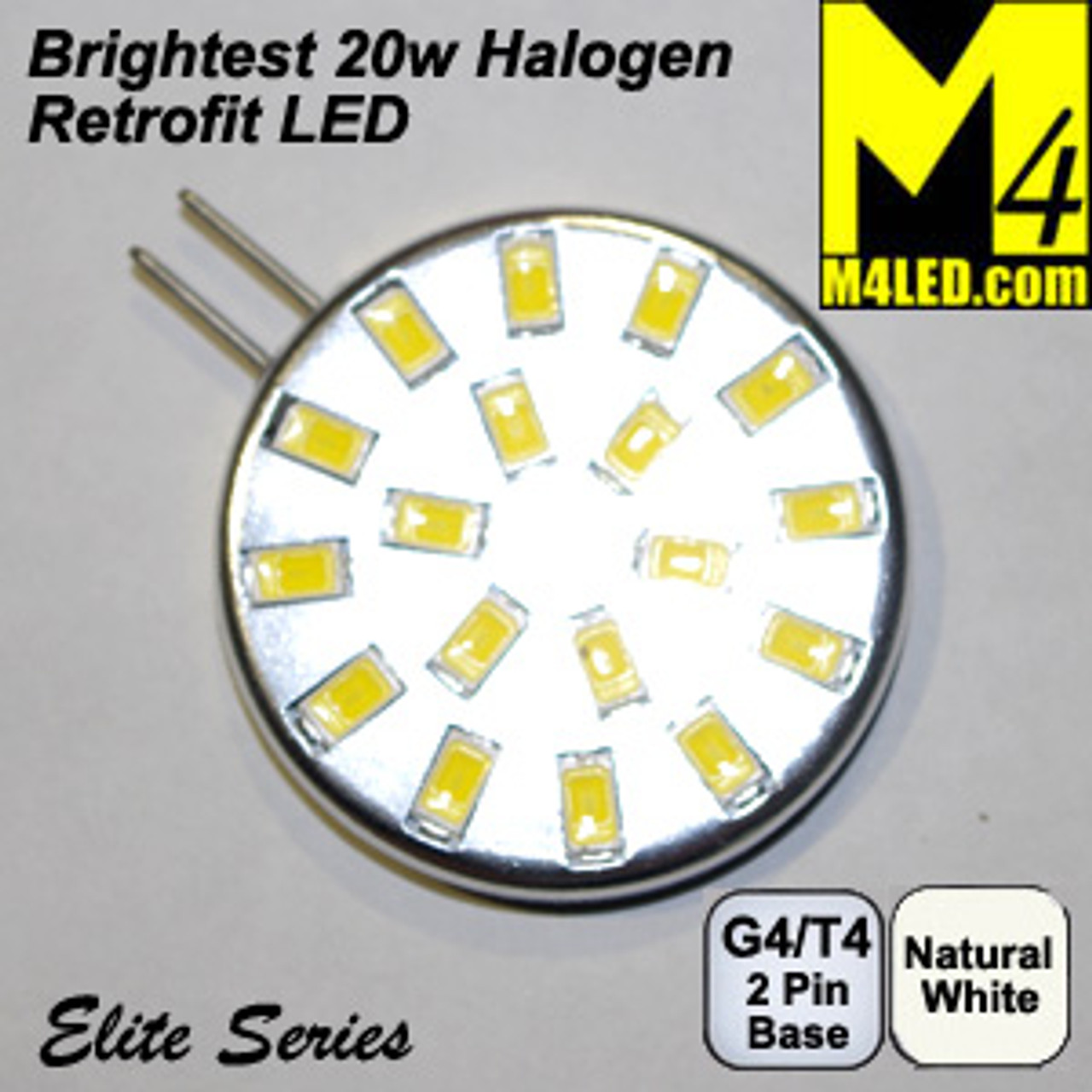 G4-18-5630-SIDE-NW Natural White Elite Series G4 / T3  Samsung 5630 LEDs Side Pins to replace 20w Halogen