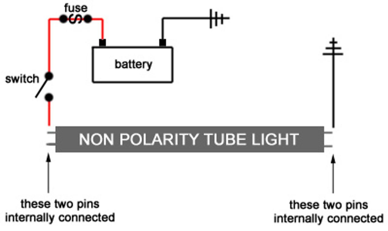 """T8-120-3528-24-NW Natural White 24"""" T8 LED Tube Light 12v"""
