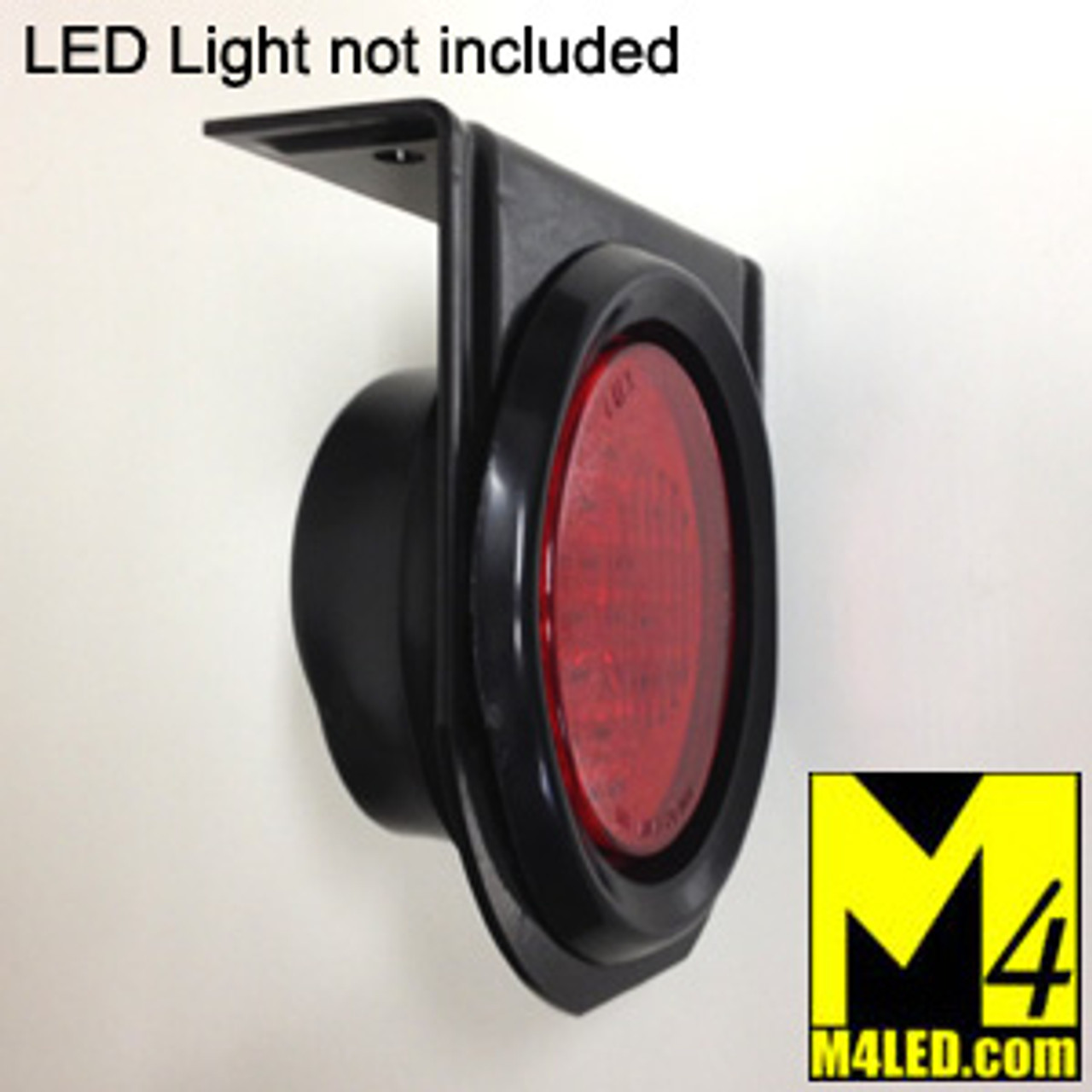 """TAIL-4ROUND-MOUNT Metal Mount with full back Rubber Grommet for 4"""" LEDs lights"""