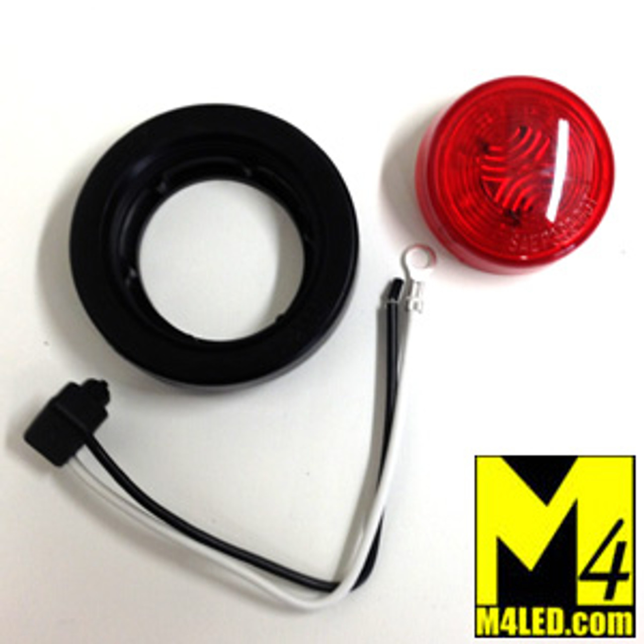 """30% Off - 2.0"""" Red LED Round Clearance Lamp with seal and harness"""