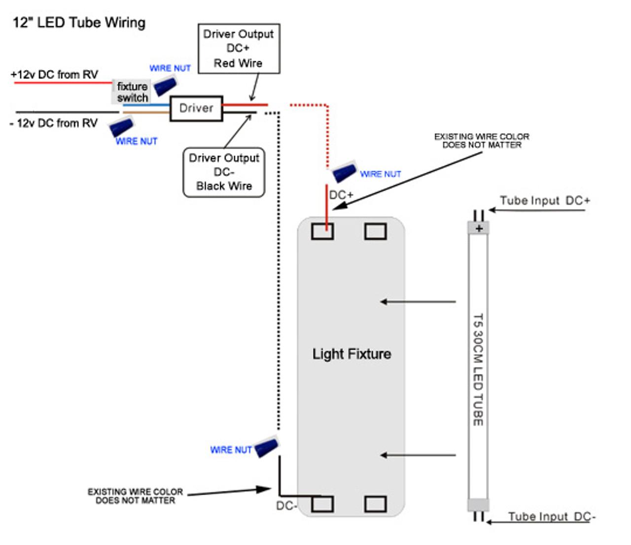 """T5-12TUBE-WW Warm White 12"""" T-5 LED Tube Light 3200k"""