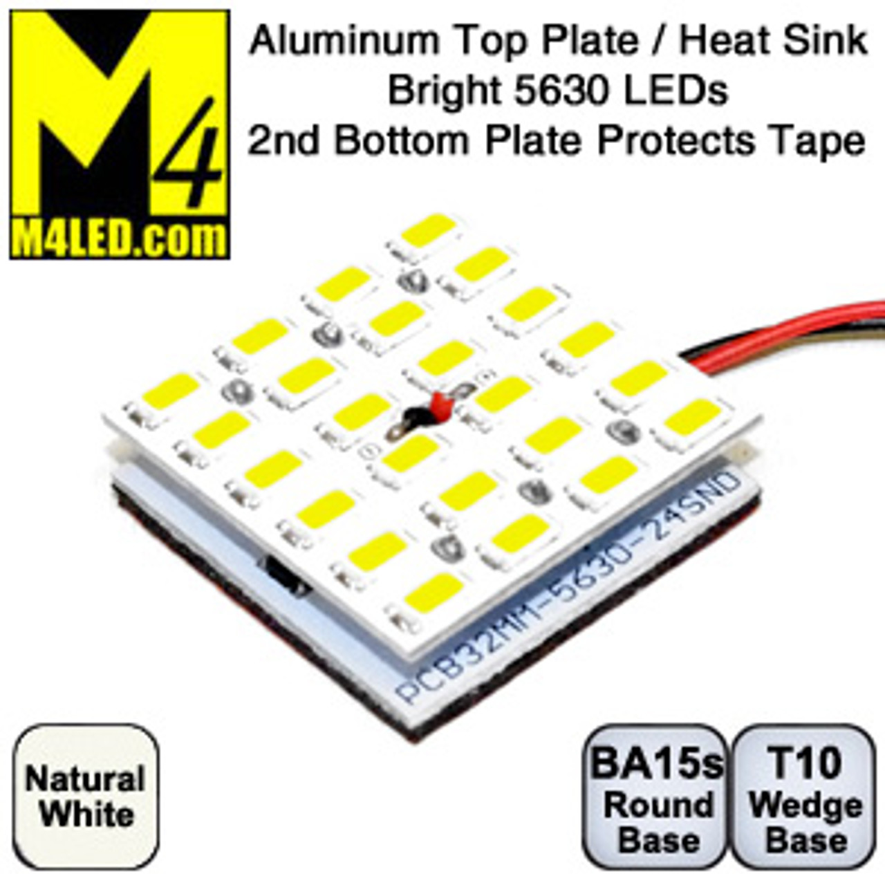ALPLATE-24-5630-NW Natural White Double Aluminum Plate