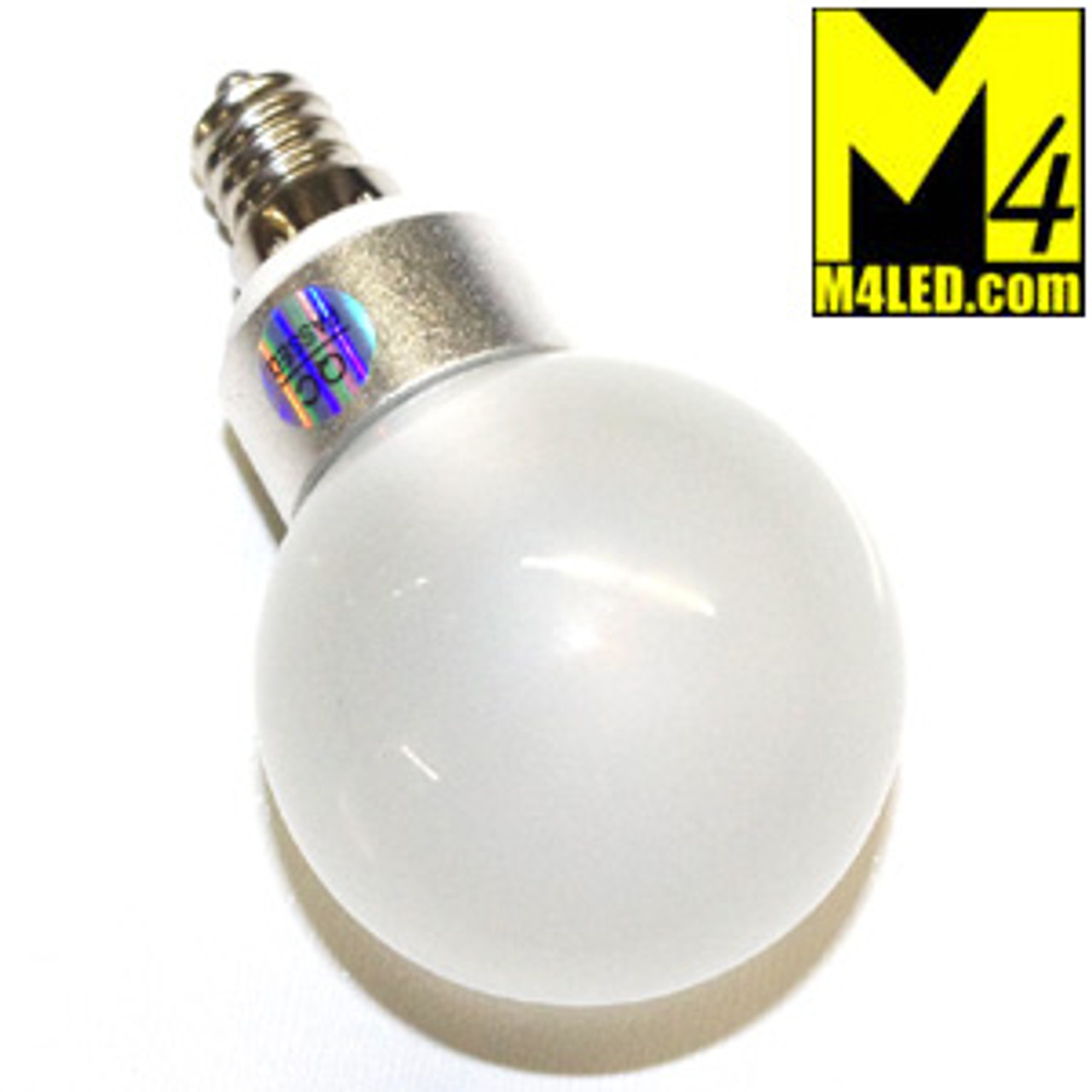 Home or RV LV-CL-3WA2-CW 120v Cool White Screw in Vanity Globe with Mini E12 Base