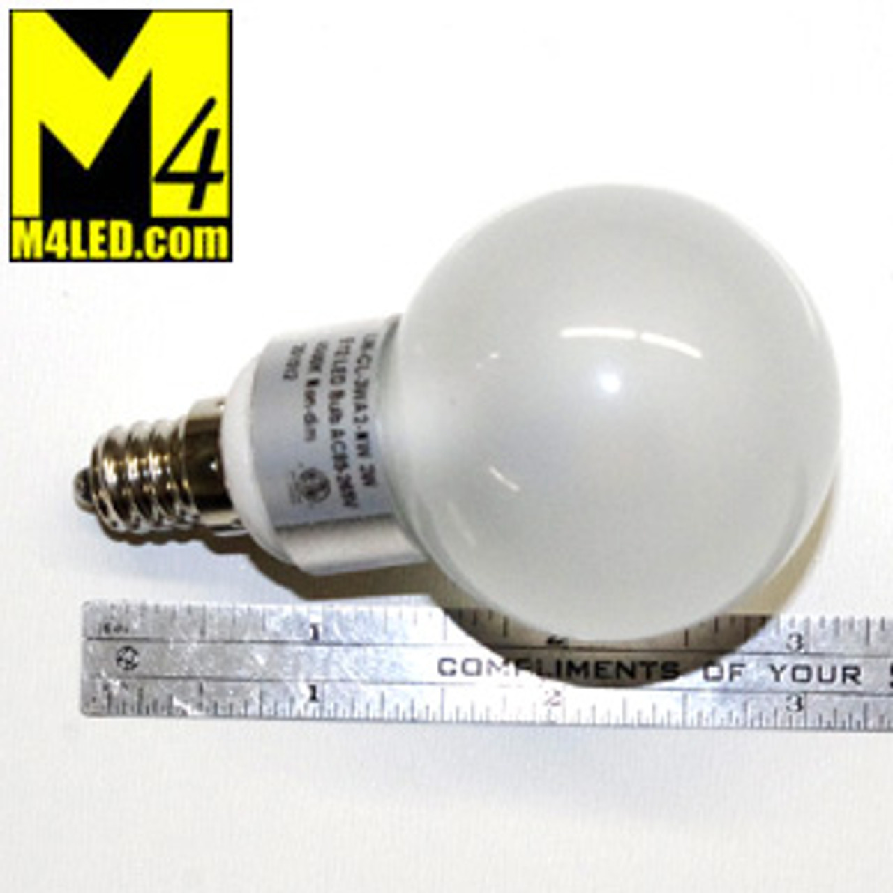Home or RV LV-CL-3WA2-NW 120v Natural White Screw in Vanity Globe with Mini E12 Base