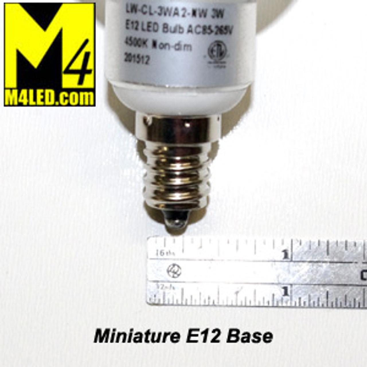 Home or RV LV-CL-3WA2-WW 120v Warm White Screw in Vanity Globe with Mini E12 Base