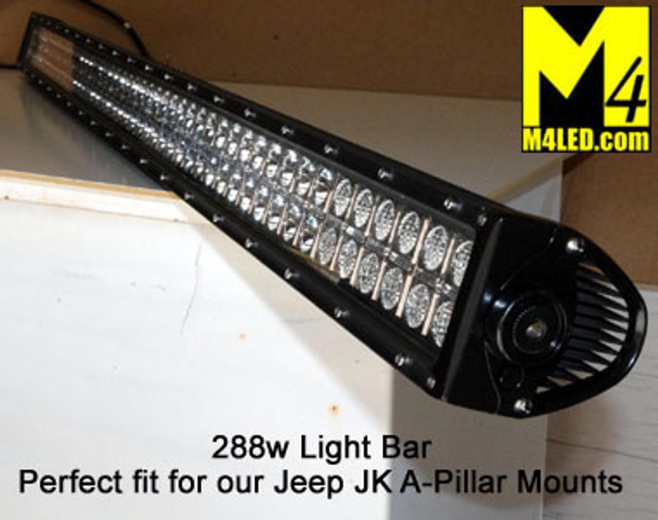 "Light Bar 50"" 288W CREE LED Chips - Combo Pattern"