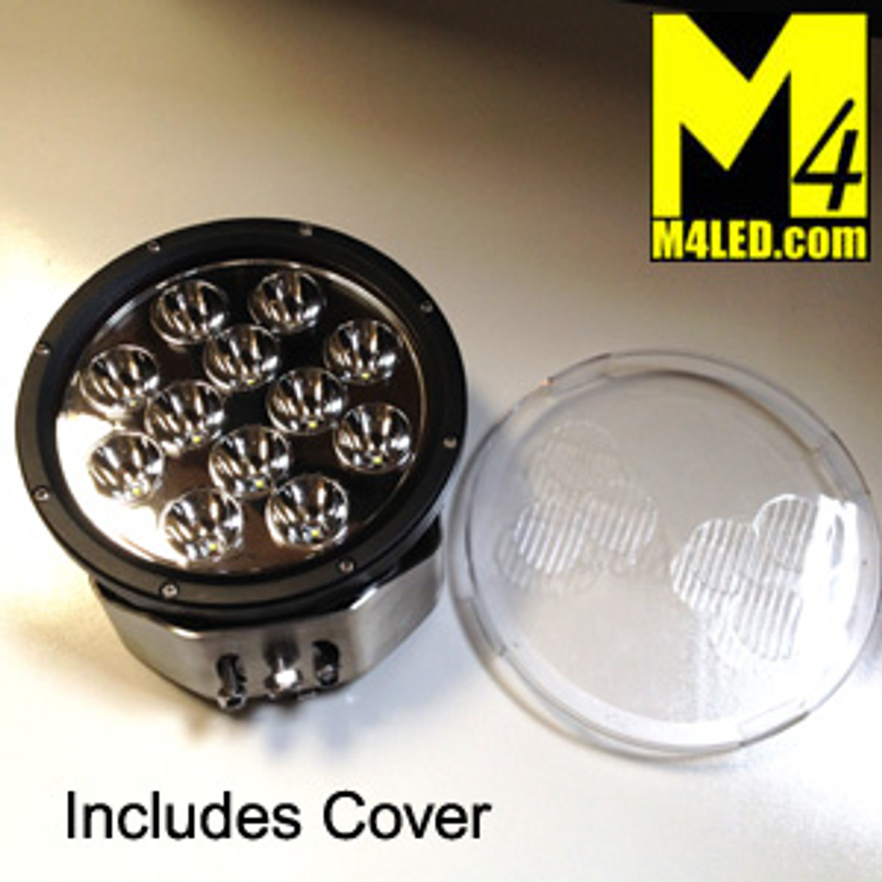 "UT-D1201 Large 8.5"" Round 120w Spot Light with Clear Cover"