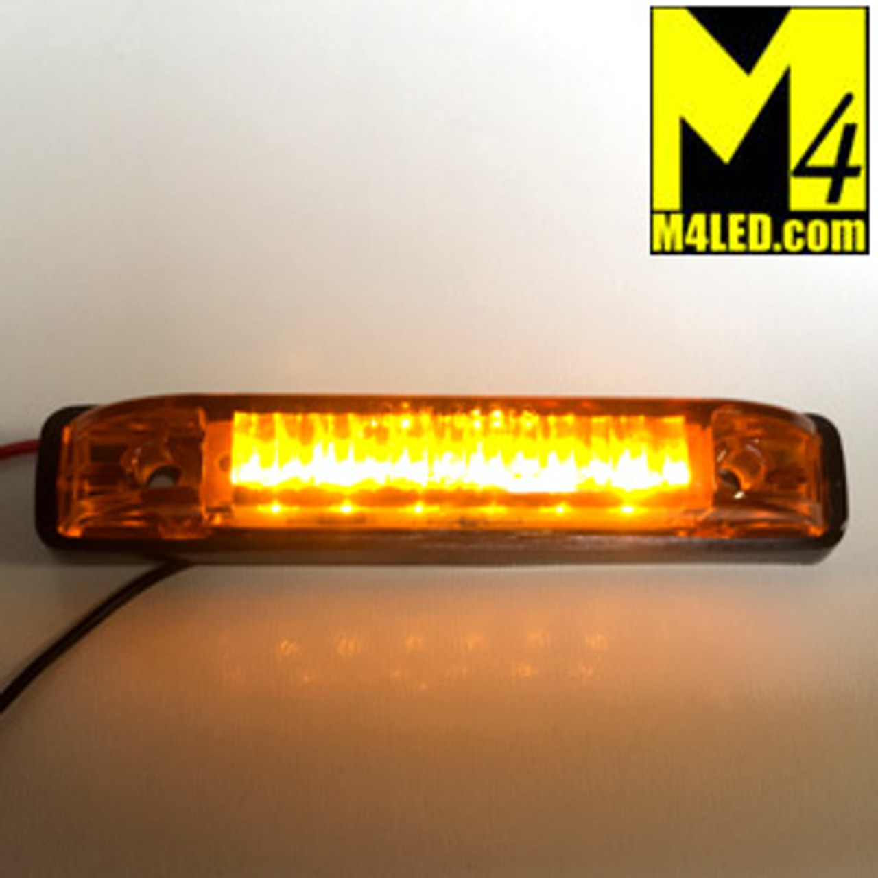 "4"" x 3/4"" Amber LED Surface Mount Clearance Lights"