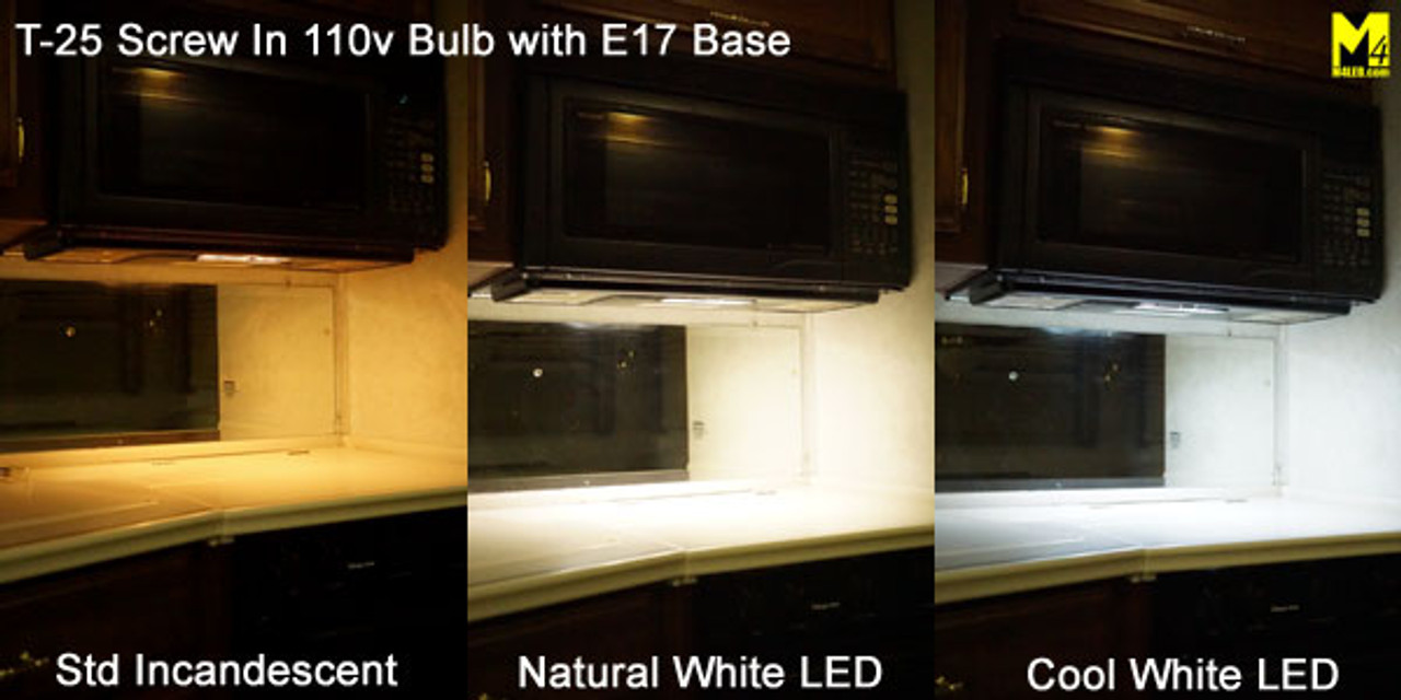 T25-SIL-CW Cool White 110/120v T25 LED with E17 Base