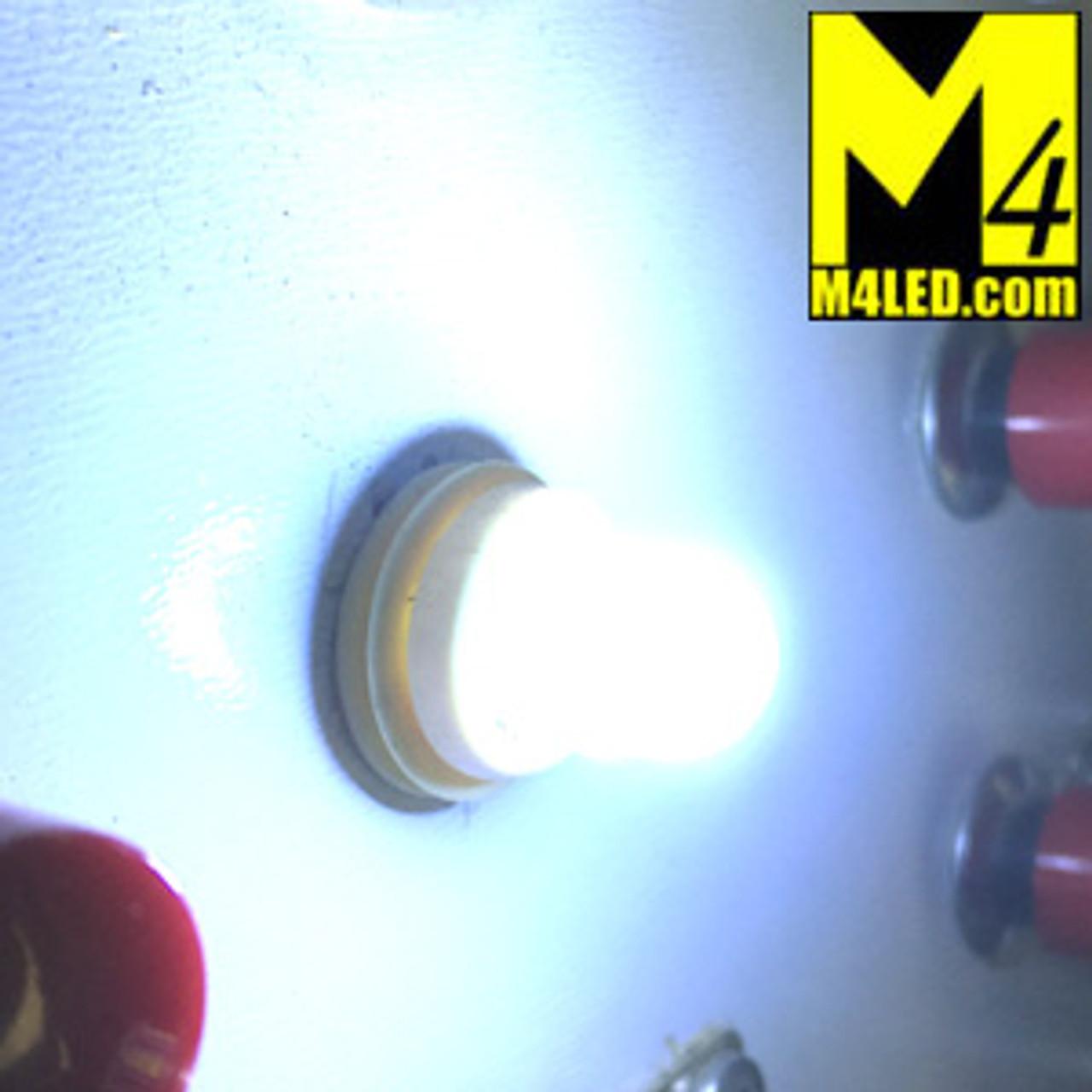 BA9s-3D-2-CW Cool White LED Light Bulb with Mini Round Base