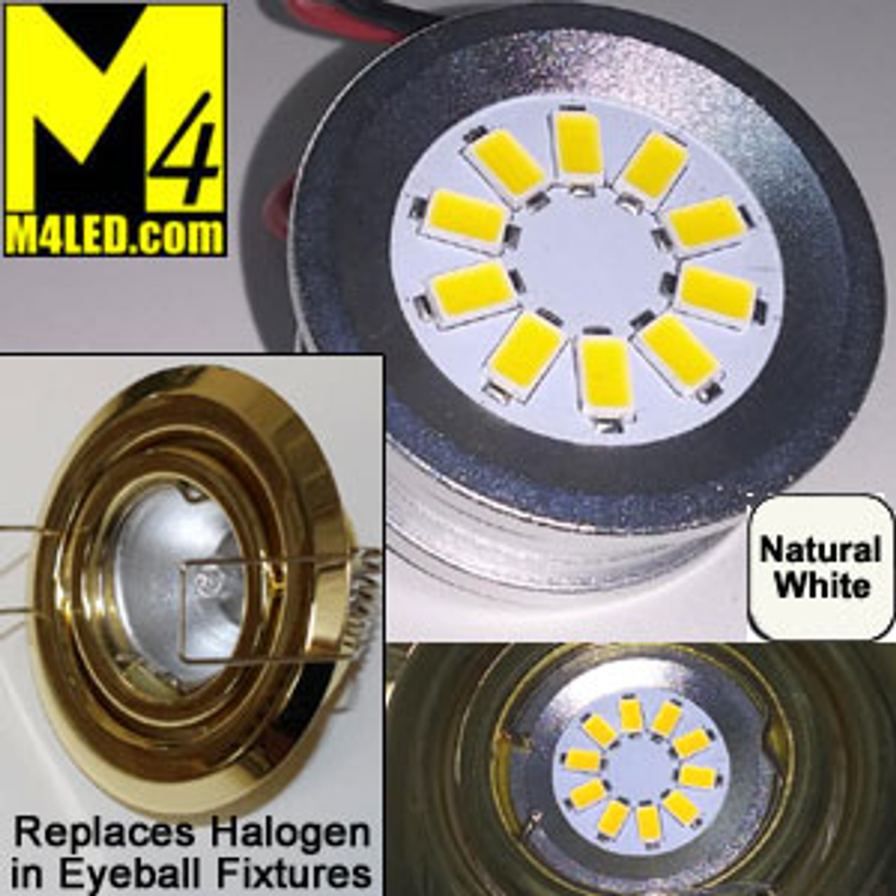 EYEBALL-10-5630-NW Natural White LED Retrofit for Halogen Eyeball Fixtures