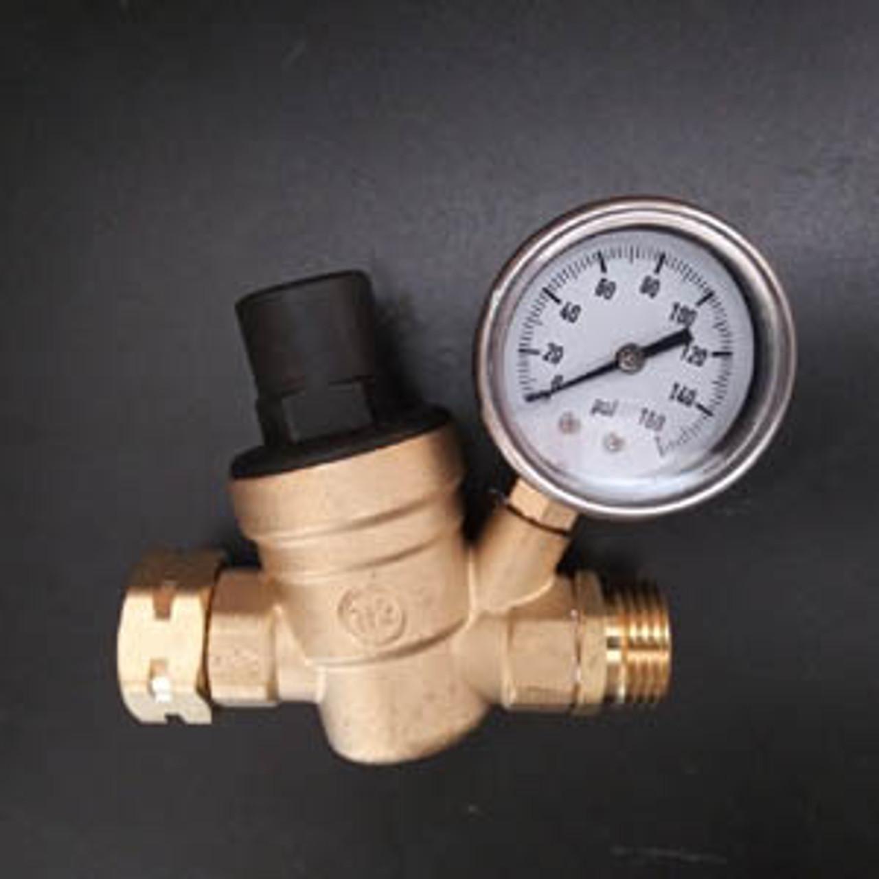 Water Pressure Regulator Adjustable with Gauge