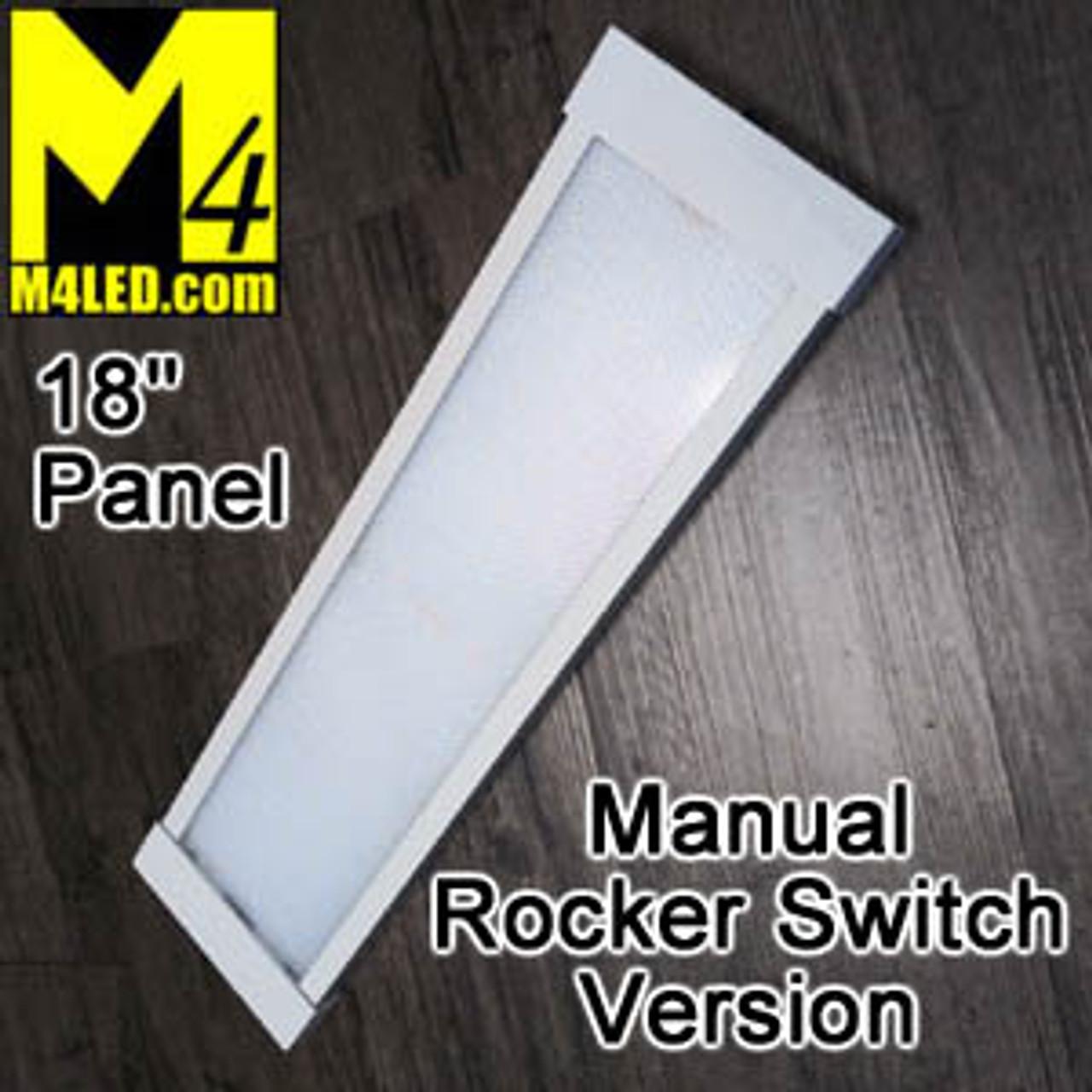 "KW-294-460-RS 18"" Rocker Switch Surface Mount Panel Light"
