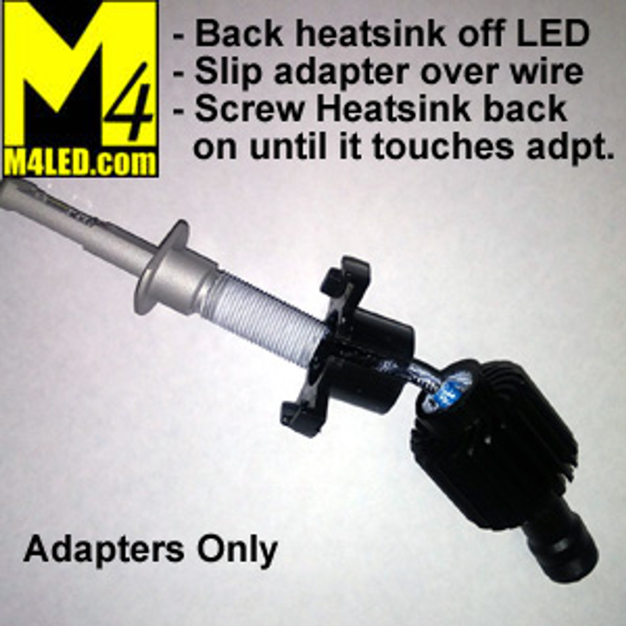 H1 Headlight Adapter Pair for some Honda and Euro Fixtures
