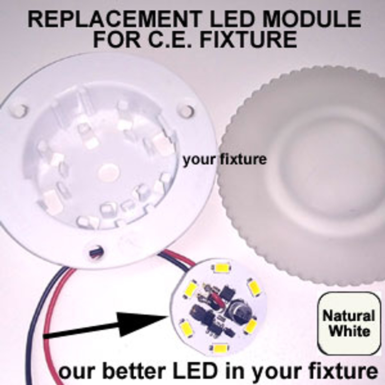 RETROFIT-6-5630-WIRE-CW Replacement for C.E. LED Fixture Cool White
