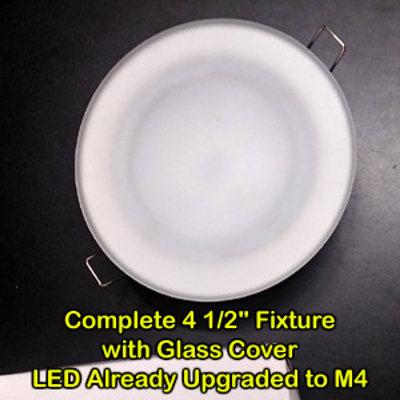 """Round 4 1/2"""" Complete Fixture with Upgraded LED Conversion"""