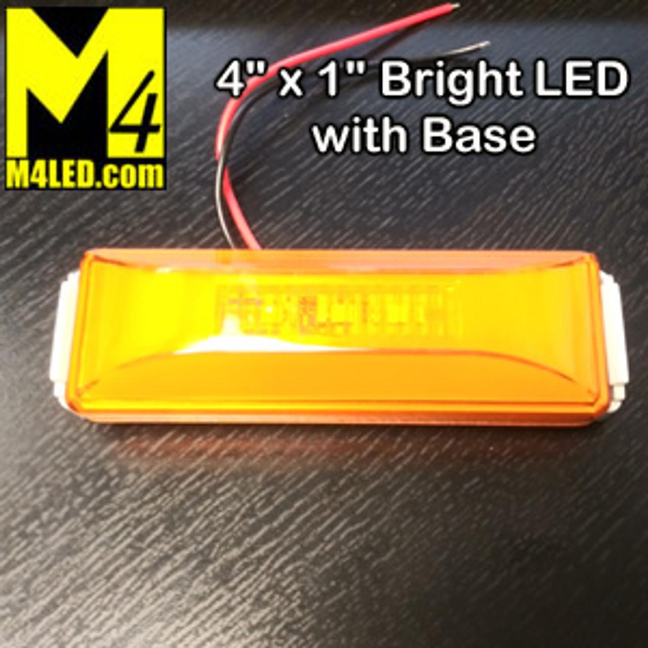 """4"""" x 1"""" Amber LED with Bracket"""