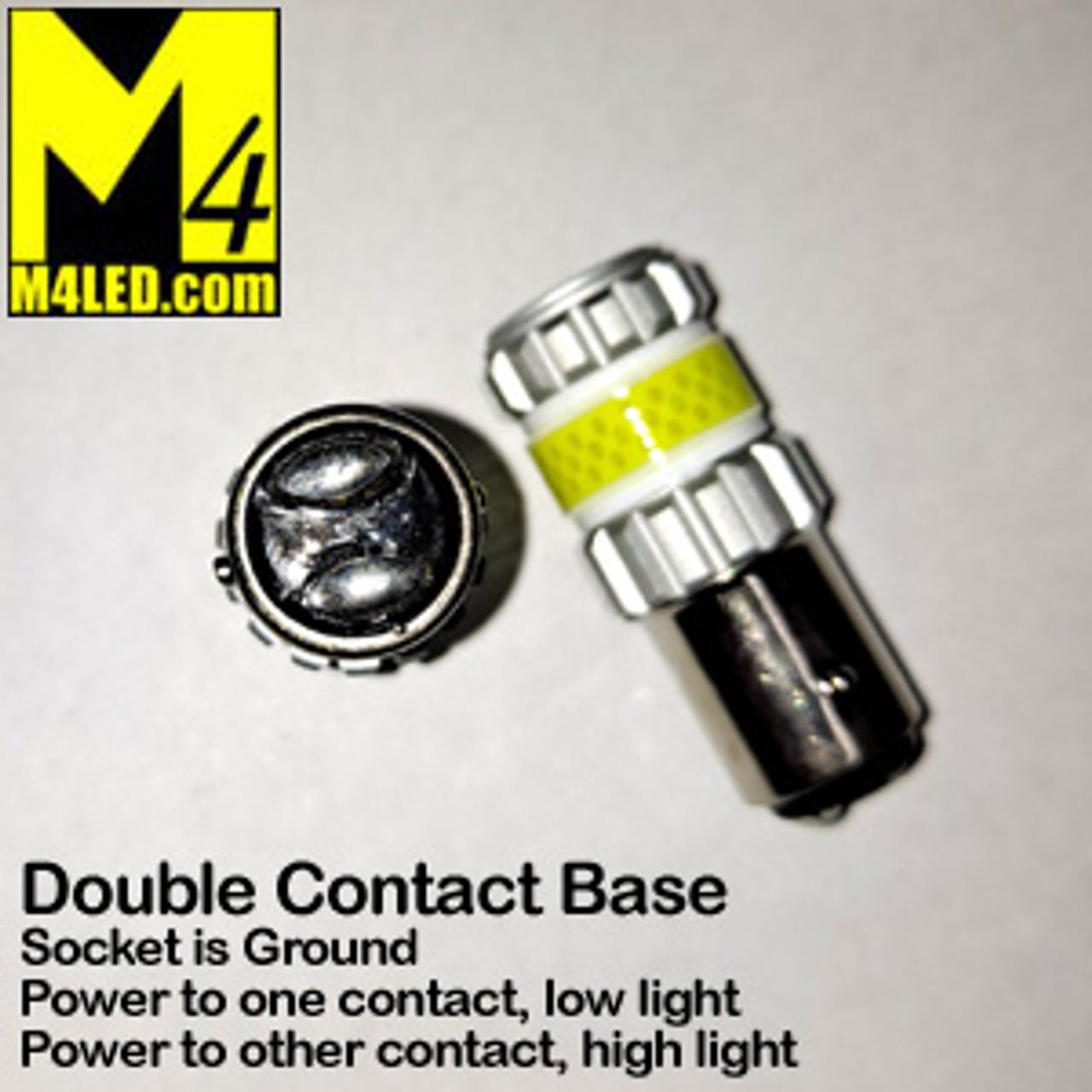 1157-G12-WHITE PAIR 1157 Brake and Tail Light (Dual Intensity)