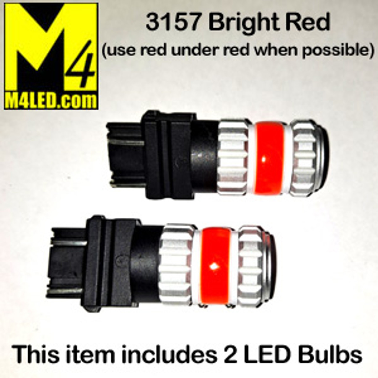 3157-G12-RED PAIR 3157 Amber Tail Light Replacement, Running, Turn (Hi/Low)