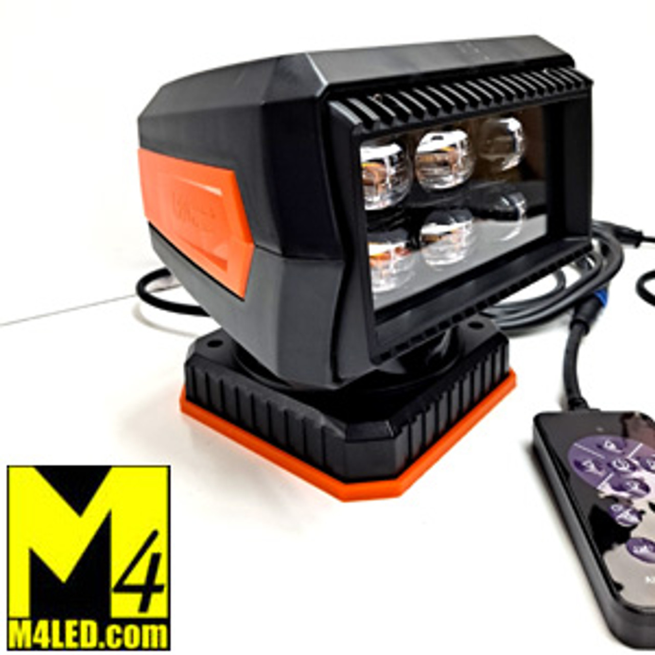 Motorized 60 Watt Spotlight with Wired Remote