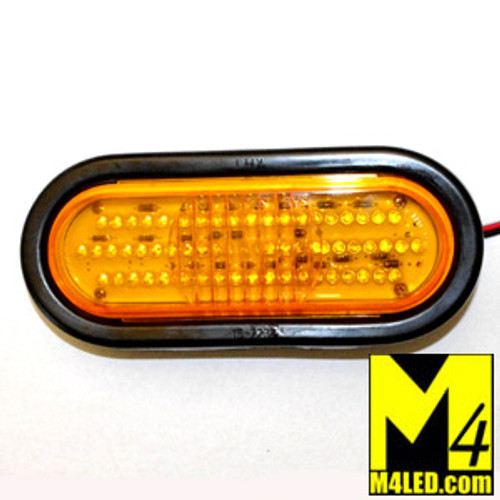 "DOORBUSTER 50% OFF 6"" Amber LED Oval Running and Turn Lamp with seal and harness"
