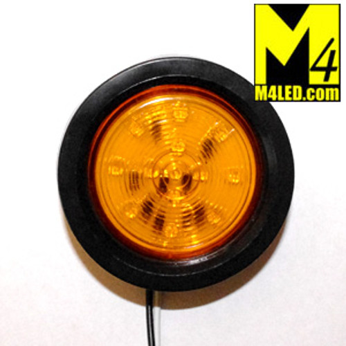 "30% Off - 2.5"" Amber LED Round Clearance Lamp with seal and harness"