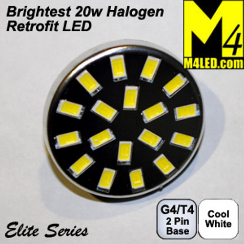 G4-18-5630-BACK-CW Cool White Elite Series G4 / T3  Samsung 5630 LEDs Back Pins to replace 20w Halogen