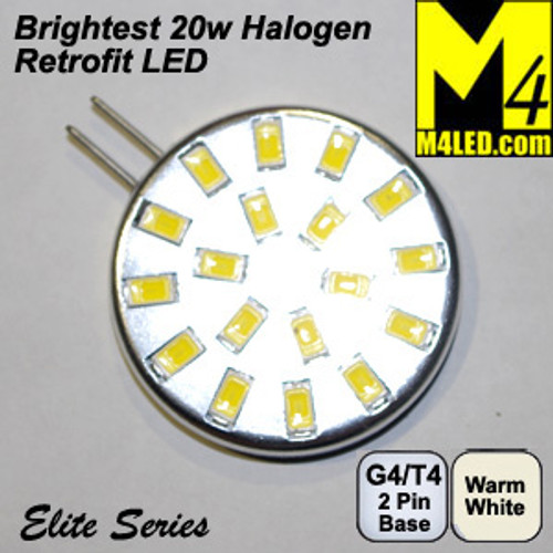 G4-18-5630-SIDE-WW Warm White Elite Series G4 / T3  Samsung 5630 LEDs Side Pins to replace 20w Halogen