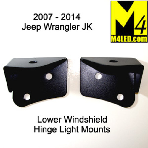 CLOSEOUT - Jeep Wrangler 2006-2018 JK Lower Windshield Light Mounts