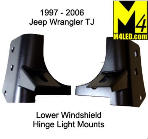 CLOSEOUT Jeep Wrangler 1998-2005 TJ Lower Windshield Light Mounts